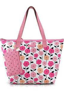 Bolsa Pink Lover Com Niqueleira - Feminino-Rosa