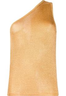 Missoni Blusa Ombro Único Metálico De Tricô - Dourado
