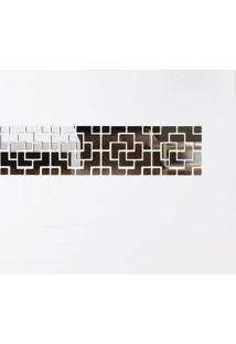 Espelhos Decorativos Em Acrílico Estilo Diagonal 33 X 134 Cm