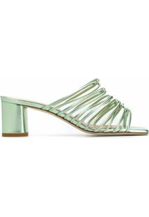 Aeyde Sandália Slip-On Pearl Com Salto 65Mm - Verde