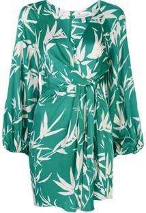 Shona Joy Vestido Envelope Com Padronagem Floral - Verde
