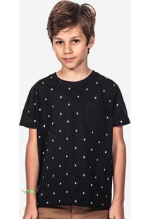 Camiseta Hermoso Compadre Bigotes Niños Masculina - Masculino-Preto