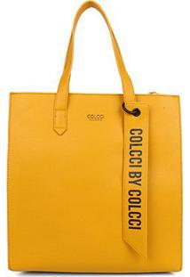 Bolsa Colcci Shopper Charm Feminina - Feminino-Amarelo