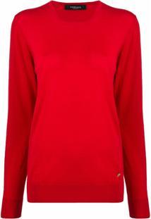 Versace Suéter Com Aplicação Medusa - Vermelho