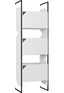 Estante Para Livros 3 Portas 1007 Branco - Bentec