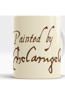 Caneca Painted By Michelangelo
