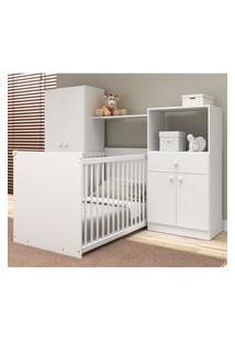 Quarto De Bebê Completo Com Berço Guarda-Roupa E Cômoda Multimóveis 2869.010