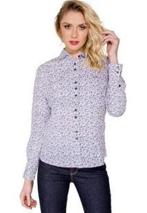 809ac28954 Camisa Branca Estampada feminina