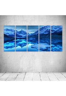 Quadro Decorativo - Blue Landscape - Composto De 5 Quadros - Multicolorido - Dafiti