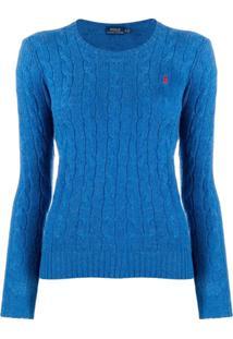 Polo Ralph Lauren Suéter De Tricô Com Logo - Azul