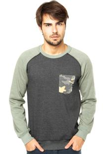 Blusa Moletom Oakley Neo Camo Crew Olive Heather