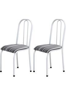Cadeira Assento Anatomico 2 Peças 00104 Branco Listrado Archeli