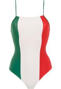 Adriana Degreas Maiô 'Italia' Tricolor - Verde