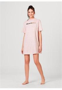 Camisola Em Malha Estampada Hering Feminina - Feminino-Rosa