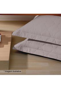Porta Travesseiro Platine- Bege Escuro- 70X50Cm-Buettner