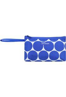 Nécessaire Geométrica Com Alça- Azul Escuro & Brancajacki Design