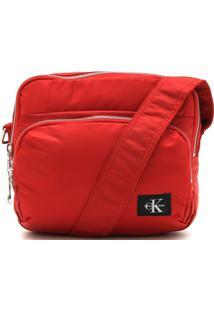 Bolsa Calvin Klein Zíper Vermelha