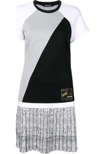Roberto Cavalli Vestido Com Recortes - Branco