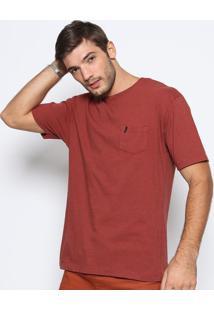 Camiseta Lisa Com Bolso- Laranja Escuroonly U