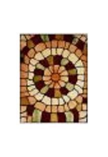 Tapete Marbella Catedral Retangular (100X150Cm) Caramelo E Creme