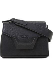 Bolsa Colcci Mini Bag Tampa Metal Feminina - Feminino-Preto