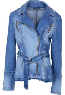 Jaqueta It'S & Co Marsala Jeans Azul