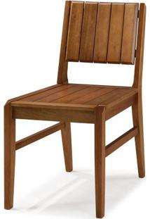 Cadeira Salvador Verniz Avela Encosto Ripado 43Cm - 60447 - Sun House