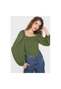 Blusa Colcci Canelada Verde