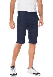 Bermuda Jeans Calvin Klein Chino Básica Azul-Marinho