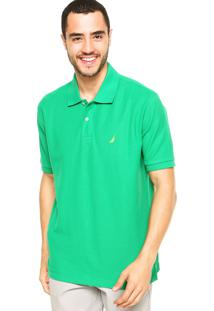 Camisa Polo Nautica Lisa Verde
