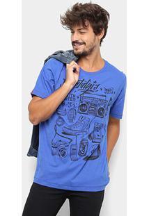 Camiseta Coca-Cola Aroma Masculina - Masculino-Azul