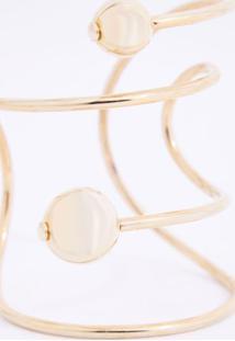 Bracelete Duo Ball Dourado - U