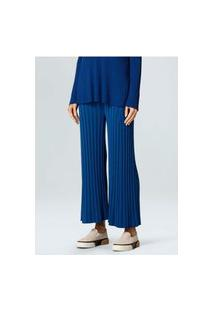 Calca Fem Osklen Knit Fluid-Azul