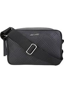 Bolsa Anacapri Mini Bag Eco Ravena Feminina - Feminino-Preto