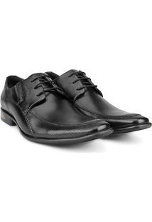 Sapato Social Couro Ferracini Sidney Masculino - Masculino-Preto