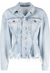 Alexander Wang Jaqueta Jeans Com Efeito Destroyed - Azul