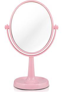 Espelho De Bancada Dupla Face Jacki Design Espelho - Rosa Rosa