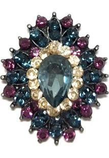 Broche Armazém Rr Bijoux Gota Azul