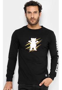 Camiseta Grizzly Wound Og Bear Long Sleeve Masculina - Masculino