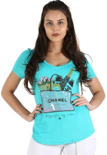 T-Shirt It'S & Co Shop Bag Aqua