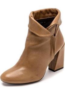 Bota Sandalo Clave De Fa Kora Feminina - Feminino-Castanha