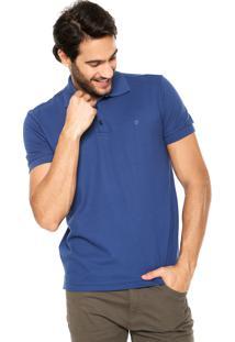 Camisa Polo Forum Textura Azul