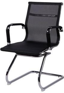 Cadeira De Escritório Fixa Tela Preta