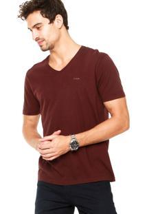 Camiseta Calvin Klein Jeans Logo Oliche Vinho