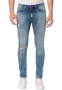 Calça Jeans Five Pocktes Skinny Ckj 016 Skinny - Azul Claro - 46