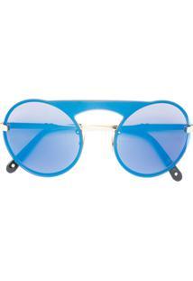 Philipp Plein Óculos De Sol 'Bubble' - Azul
