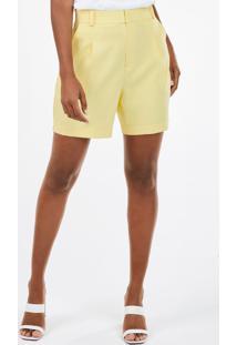 Bermuda Feminina De Alfaiataria Amarela Sharline