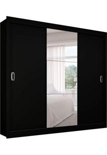 Guarda-Roupa Casal Master Com 1 Espelho 3 Pt 2 Gv Preto