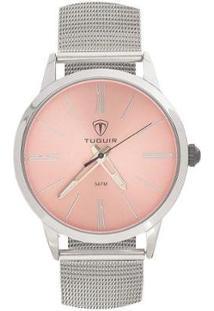 Relógio Tuguir Analógico Tg106 Feminino - Feminino-Prata+Rosa