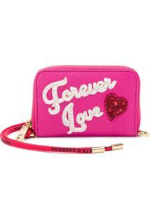 Dolce & Gabbana Carteira 'Forever Love' De Couro - Rosa